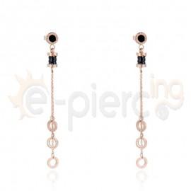 Κρεμαστά σκουλαρίκια από ανοξείδωτο ατσάλι 750107