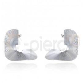 Σκουλαρίκια σπιράλ από ανοξείδωτο ατσάλι 750143