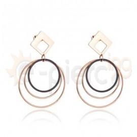Ροζ σκουλαρίκια από ανοξείδωτο ατσάλι 750159