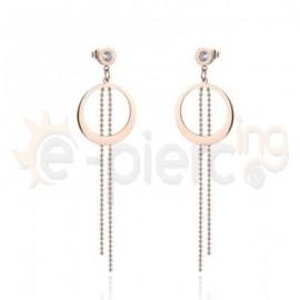 Ροζ σκουλαρίκια από ανοξείδωτο ατσάλι 750170