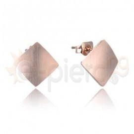 Ροζ σκουλαρίκια από ανοξείδωτο ατσάλι 750178