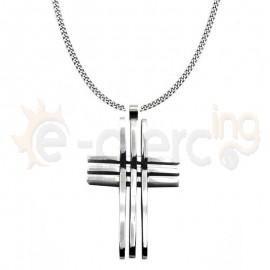 Σταυρός ατσάλι 316L Unisex 760058
