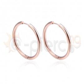 Κρίκος από ανοξείδωτο ροζ ατσάλι 780507