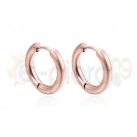 Κρίκος από ανοξείδωτο ροζ ατσάλι 780509
