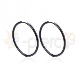 Κρίκος από ανοξείδωτο μαύρο ατσάλι 30mm 780512