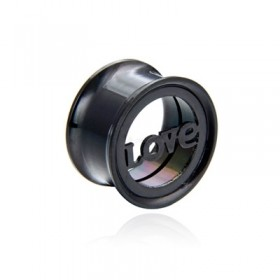 Surgical Steel 316L Tunnel Love 20mm